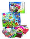 Sada barevných papírů na výrobu dekorací s 50 návody - 107 kusů, mix barev, velikostí a druhů papírů