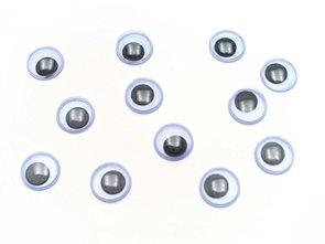 Pohyblivé oči - kulaté, 10 mm, 100 ks
