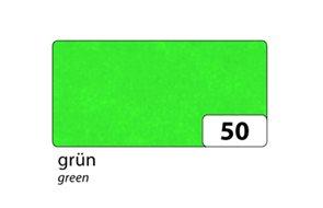 Hedvábný papír 50x70 cm, zelený 20 g/m, složený na 25x35 cm, 5 listů,
