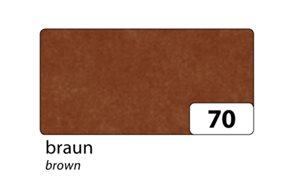 Hedvábný papír 50x70 cm, 20 g/m, složený na 25x35 cm, 5 listů, barva hnědá