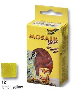 Mozaikové kamínky - skleněné - barva žlutá