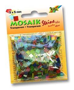 Mozaikové kamínky - průhledné - mix 20 barev