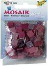 Mozaikové kamínky - se třpytkami - barva růžová