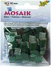Mozaikové kamínky - se třpytkami - barva zelená