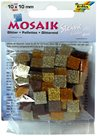 Mozaikové kamínky - se třpytkami - barva hnědá