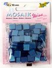 Mozaikové kamínky - blýskavé - barva světle modrá