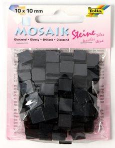 Mozaikové kamínky - blýskavé - barva černá