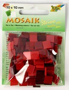 Mozaikové kamínky - tón v tónu mix - barva červená