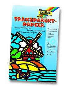 Transparent papír - na výrobu papírových draků - 18,5 x 29,7 cm, 10 listů v 10 barvách, balení typu
