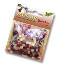 Mozaikové kamínky - Mramor - barva červená