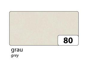 Hedvábný papír 50x70 cm, 20 g, 5 listů - barva šedá