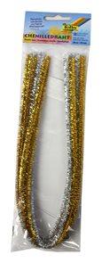 Modelovací drátky - stříbrné + zlaté (5+5 ks, 50 cm)