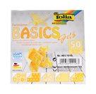 Origami papír Basics 80g/m2 - 20 x 20 cm, 50 archů - žlutý