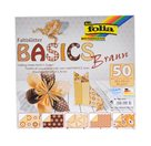 Origami papír Basics 80g/m2 - 20 x 20 cm, 50 archů - hnědý