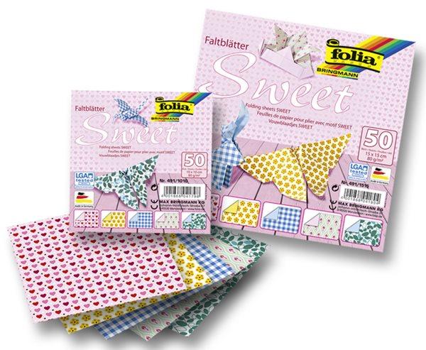 Origami papír Sweet 80g/m2 - 10 x 10 cm, 50 archů