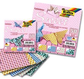 Origami papír Sweet 80g/m2 - 20 x 20 cm, 50 archů