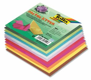 Origami papír barevný 70g/m2 - 15 x 15 cm, 100 archů