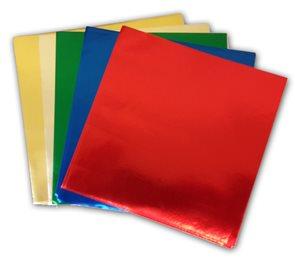 Origami papír z alufolie - 10 x 10 cm, 50 archů