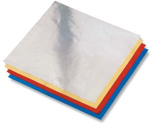 Origami papír z alufolie - 20 x 20 cm, 50 archů