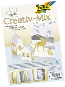 Barevný papír - kreativní mix - ZIMA