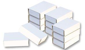 Krabičky od sirek - bílé ( 24 ks )