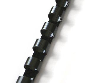 Plastový hřbet 6 mm 100 ks - černý