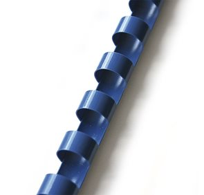 Plastový hřbet 14 mm 100ks - modrý
