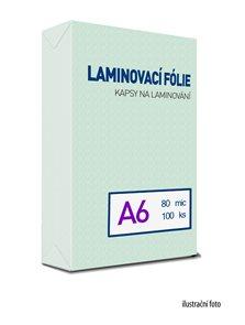 Laminovací fólie - kapsy A6, 80 mic (100 ks)