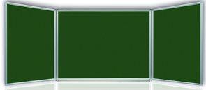 Tabule magnetická Triptych 150x100/300 cm s keramickým povrchem - zelená