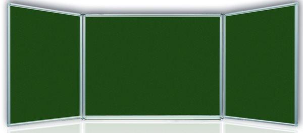 Tabule magnetická Triptych 150x100/300 cm s keramickým povrchem - zelená, Doprava zdarma
