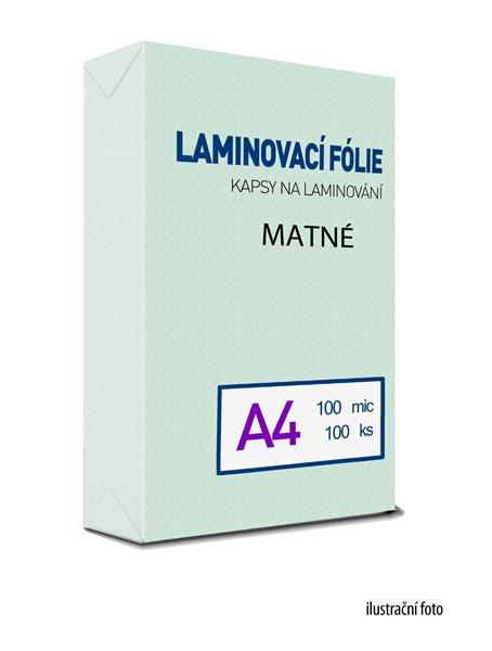 Laminovací folie - kapsy A4, 100 mic (100 ks) MAT