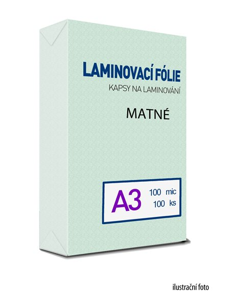Laminovací folie - kapsy A3, 100 mic (100 ks) MAT