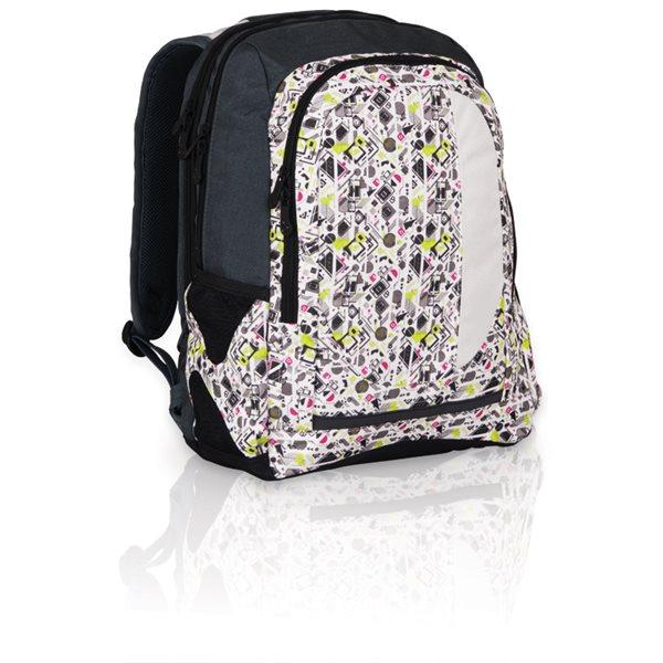 Studentský batoh HIT 813 P - Light Grey - 44 x 18 x 30 cm, Sleva 25%