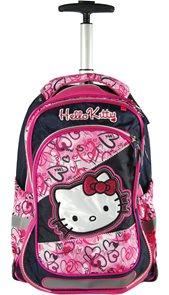 Školní batoh - Hello Kitty - na kolečkách