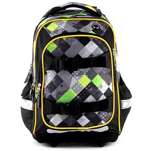 Školní batoh Target - Zelené kostky