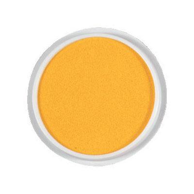 Kruhový polštářek - žlutá barva
