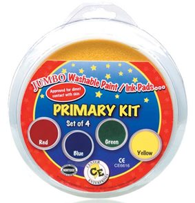 4x kruhový polštářek - červená, žlutá, modrá, zelená
