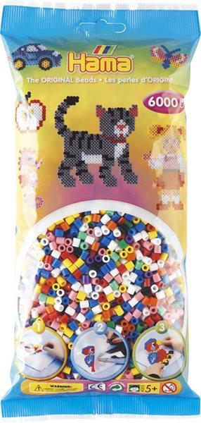 Korálky barevné MIX - 6 000 ks MIDI