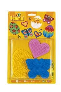 Podložky barevné 3 kusy MIDI - srdce, motýl, vajíčko