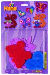 Podložky barevné 3 kusy MIDI - veverka, motýl, srdce