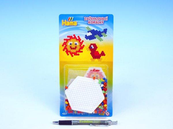 Zažehlovací korálky HAMA set - Šestiúhelník, 400ks MIDI