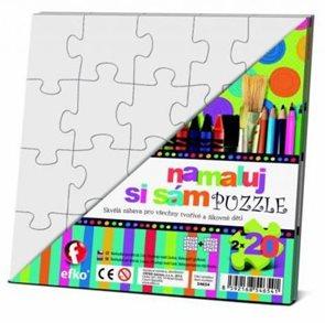 Namaluj si sám puzzle - 2x20 malých dílků