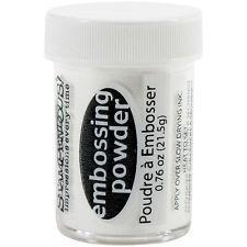 Embosovací prášek - bílý - 30 ml