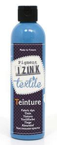 Barva na textil IZINK - tekutá- 250 ml - nebeská modř