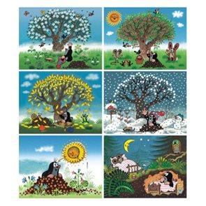 Obrázkové kostky 12 ks - Krtečkův rok