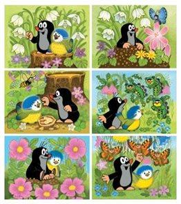 Obrázkové kostky 12 ks - Krtek a ptáček