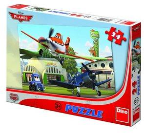 Puzzle - 24 dílů Letadla: U hangáru
