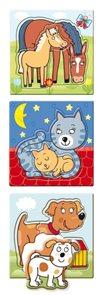 Baby puzzle s tvarovanými dílky - zvířátka