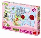 Baby Duo puzzle 9×2 - Domácí zvířátka