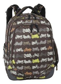 Školní batoh BIKES 01 A - hnědý